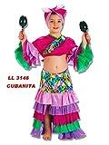 llopis Disfraz de Cubana Morada 9 a 11 Años