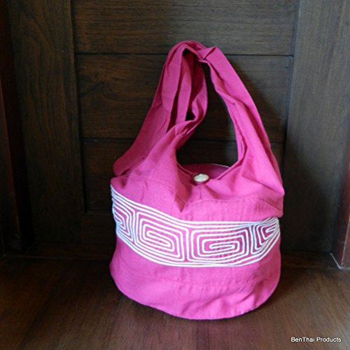 BenThai Products, Borsa a tracolla donna rosso Red ND1 large Pink ND7