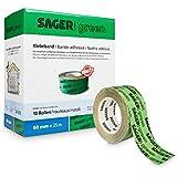 Sager green Klebeband (Grün 60mm x 25m) zur Verklebung von Dampfsperrfolien, Dampfbremsfolien, Dampfbremse, Dampfsperre, Klimamembranen, OSB Platten) (60 mm)