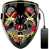 قناع الهالوين بأقنعة حفلات إضاءة LED لتنقية الانتخابات العام الخامس ل Vendetta The Purge قناع بارد قناع الحفلة تنكرية