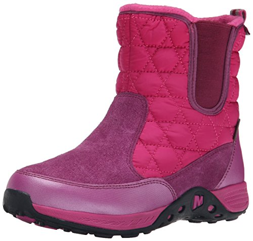 Merrell Jungle Moc 2 Waterproof Snow Boot (Little Kid/Big Kid), Berry, 5 M US Big Kid -