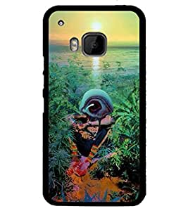 Droit 2D Printed Designer Back Case Cover for HTC One M9 + 3D F1 Screen Magnifier + 3D Video Screen Amplifier Eyes Protection Enlarged Expander by DROIT Store.