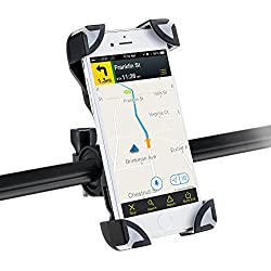 AGPTEK Soporte móvil Bicicleta Motocicleta Universal Smartphone, GPS y Otros Dispositivos DE 3,5 a 6.5 Pulgadas, Color Negro