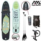 Aqua Marina SUPER TRIP 12'2' aufblasbares SUP Board Combo 4 / inkl. Paddel, Finnen, Pumpe, Tragetasche und Wasserdichter Seesack für Zubehör