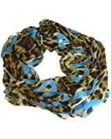 LeoHeartLoop - Leoparden Muster Animal Print mit Herz Motiven Loopschal Schlauchschal Sommer Damen