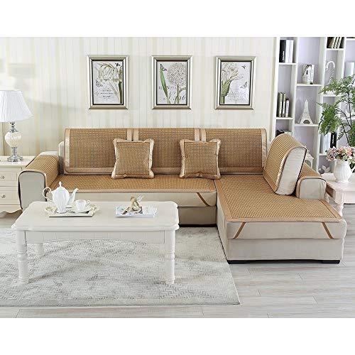 HOMHOM Rattansofabezug Schonbezug, Sofabezug Möbel Protector Sectional, Sommerkühlung Schlafmatte, Sofakissen Handtuch for Wohnzimmer, Sesselbezug, Sommer Dekor (Size : 70x70cm/28 x28) -