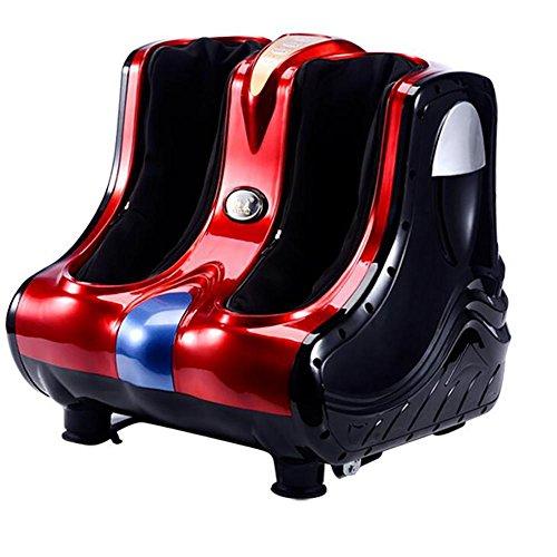 Elektrische Fuß Massagegerät für Füße, Beine, Knie Kalb Massager mit Heizung und Vibrationsfunktion , Red