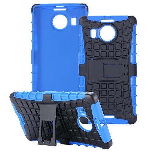 ECENCE Handyhülle Schutzhülle Outdoor Case Cover kompatibel für Microsoft Lumia 950 XL Handytasche Blau 21030407