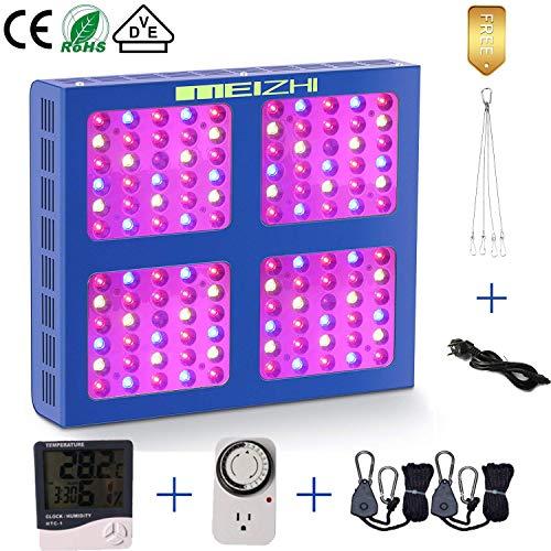 MEIZHI LED Pflanzenlampe 600W LED Grow Light Vollspektrum Wachstumslicht LED Grow Lampe with Daisy Chain für Zimmerpflanzen, Gemüse, Blumen