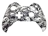 GT Xbox One Original Hydro Dipped White Zombie Controller Shell mod – Replacement Top Shell, [Import anglais]