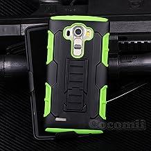 LG G4 Stylus / LG G4 Note Funda, Cocomii Robot Armor NEW [Heavy Duty] Premium Belt Clip Holster Kickstand Shockproof Hard Bumper Shell [Military Defender] Full Body Dual Layer Rugged Cover Case Carcasa LS770 H631 MS631 (Green)
