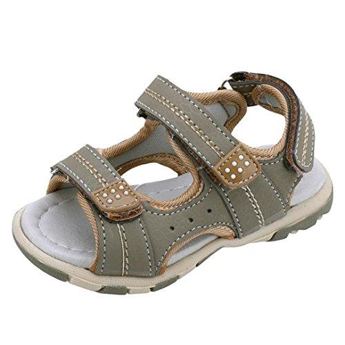QinMM Sommer Kinder Kinder Schuhe Jungen Mädchen Strand Laufschuhe Sport Sandalen Schuhe Turnschuhe Grau Blau Grün 19-24 (19, Grau)