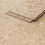 CORCASA Korkboden Design coloriert lackiert Klicksystem warmer Kork Bodenbelag Klick Sinai