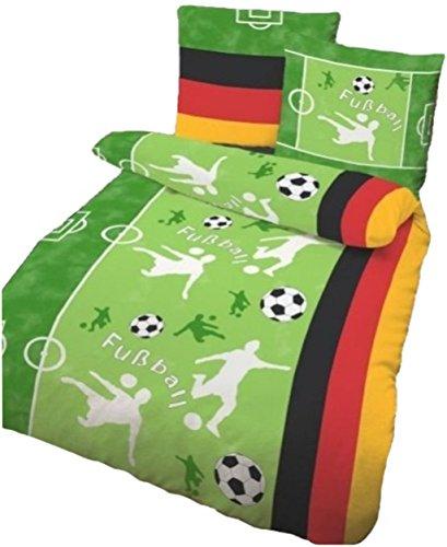 Fußball Bettwäsche 135x200 mit Reißverschlüsse