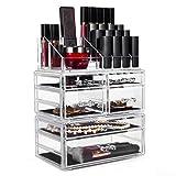 HBF XXL Make Up Organizer Kosmetik Aufbewahrung Organizer (4 Ebenen 6 Schubladen)