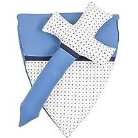 Espada de tela juguete para caballero 32 x 16 cm espada infantil 28 x 24,5 cm escudo azul blanco material superior algodón 100 % Comercio justo de la marca Ringelsuse
