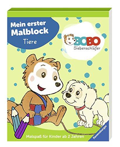 Bobo Siebenschläfer: Mein erster Malblock Tiere