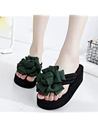 848fa8332372 FEI Mules Female summer slippery slippers Thick sandals Fashion beach  slippers for 18-40 years Sandals Casual…