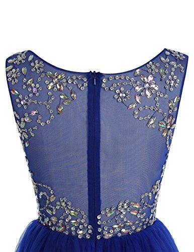 Bbonlinedress Robe de cérémonie Robe de bal en tulle emperlée longueur ras du sol Bleu