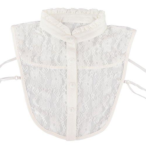 ts Abnehmbar Halsbands Ersatz-Shirt Kragen Baumwolle (Leuchten, Namensschilder)