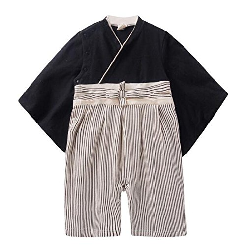 Deylaying Baby Jungen Stramplers Jumpsuits Hakama Style Kimono Suit Top Hosen Sets Säugling Kleinkind Babysuit Lange Ärmel Winter Herbst Overalls Kleider Outfits 3-9 Monate