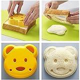 Pinkdose® 1Pcs New Little Plastic Bear Shape Sandwich Cutter Bread Toast Mold Mould Maker Diy Mold Craft Mould