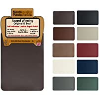 MastaPlasta Self-Adhesive Leather Repair Patch. New XL 28cmx20cm. Choose colour. First-aid for sofas, car seats. Fix holes, rips, burns, stains (DARK BROWN XL)