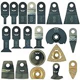 Lot de 20 lames pour outil multifonction Draper MT250A 23038, MT250 31328, WICKES 235510, RENOVATOR