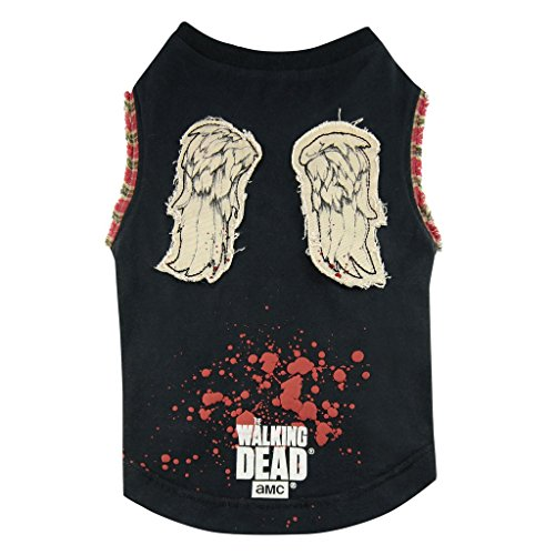 The Walking Dead - Hunde T-Shirt - Daryl Dixon Wings (S-XL) (L) (Michonne Kostüm Hund)