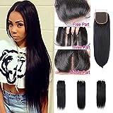"""Mufly Extensiones de Closure de pelo natural cabello 100% humano Virgen Brasileñas de calidad REMY de Lisa Negro Natural 14"""""""