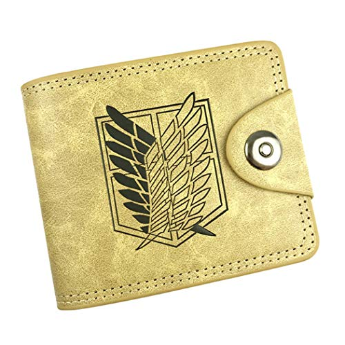 Cartera amarilla anime de Attack on Titan