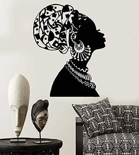 jiuyaomai Vinyl Wall Decal Afrikanisches Mädchen Schwarze Frau In Turban Native Aufkleber 42x54cm (Laptop-aufkleber Für Mädchen Krone)