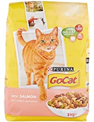 PURINA GO-CAT Salmon and Added Vegetables Adult Cat Dry Food, 2 kg