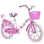 51uDus2zj L. SS150 Bici per Bambini Big Boy 20 Pollici Bici da 18 Pollici, Bimbo Pieghevole per Principianti e Due Ragazze (Color : Pink-A…