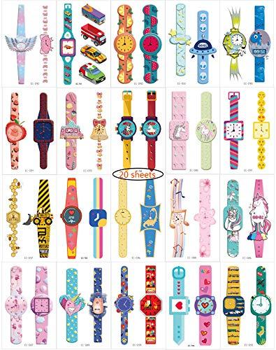 Sehen Sie temporäre Tattoos Aufkleber 20 Blatt Papier Spielzeug für Jungen und Mädchen Birthday Party Bag Filler Geschenk (Spielzeug Bag Jungen Für Party)