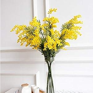 Uteruik – Flor de Acacia Artificial para decoración de Interiores, decoración Floral, 1 Unidad