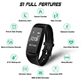 GULAKI-Fitness-Tracker-Watch-IP67-Waterproof-Smart-Bracelet-GPS-Smartwatch-for-Health-Activity-Workout-Exercise-Tracker-with-Heart-Rate-Monitor-for-Android-and-IOS-Smart-Phones-black