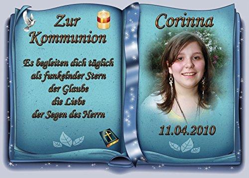 Tortenaufleger Fototorte Tortenbild zur Kommunion Buchform DIN A4 K31