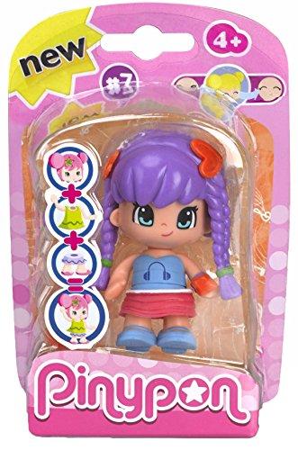 Pinypon - Muñeca Pinypon, Figuras Serie 7, niña pelo lila (Famosa 700013362)