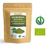 Moringa Oleifera Ecologica en Polvo [Calidad Premium] de 400g | Moringa Powder Organica, 100% Bio, Natural y Pura | Hojas Recogidas de la Planta de Moringa Oleífera | Superfood Rico en Antioxidantes.