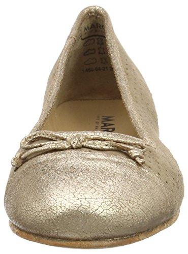 Marc Shoes Bea, Ballerines fermées femme Gris - Grau (taupe-combi 261)