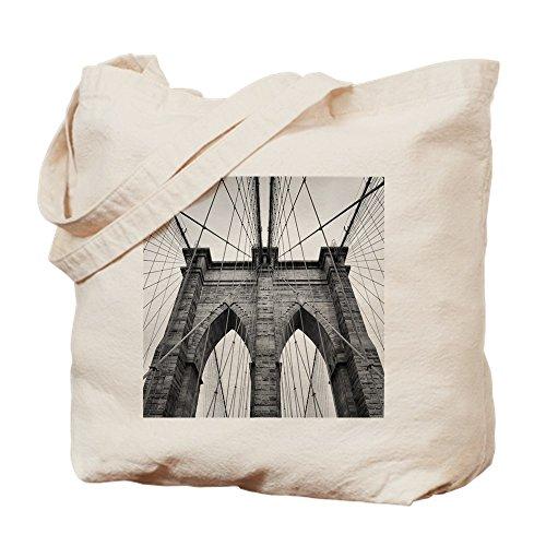 CafePress Brooklyn Bridge New York City Nahaufnahme, canvas, khaki, S