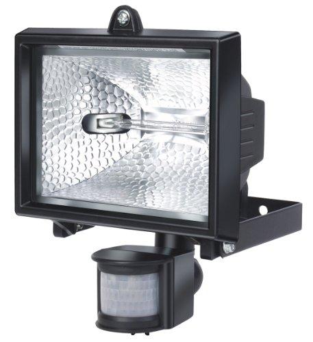 Brennenstuhl Halogenstrahler mit Infrarot-Bewegungsmelder / Flutlicht ideal als Baustrahler (Außenstrahler IP44 geprüft, 400 Watt) Farbe: schwarz -