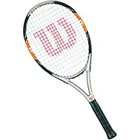 Wilson Nitro Team 105 W/O Cvr 2 Racchetta da Tennis, Arancione/Nero, 2 - Wilson Racket Sports