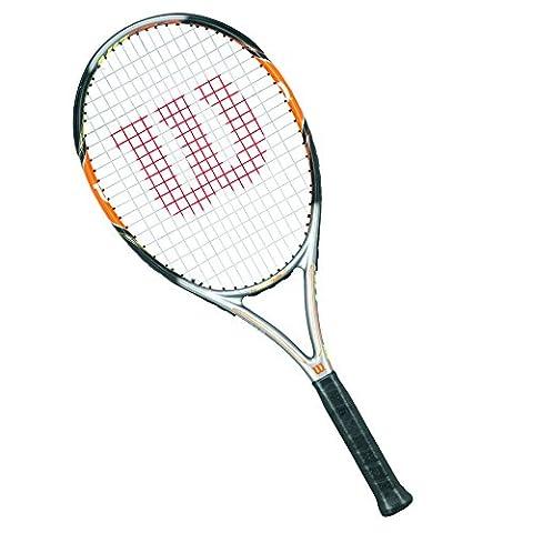 Wilson Tennisschläger Damen/Herren, All Courter, Freizeitspieler, Nitro Team 105, Größe 2, Orange/ Schwarz