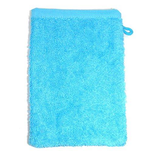 Starlabels Gant de Toilette Turquoise éponge 500 g/m2 Gant de Toilette 15 x 21 cm