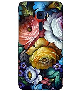 Takkloo Colourful flower beautiful scenery,Nice scenery, colourful roses) Printed Designer Back Case Cover for Asus Zenfone 3 Max ZC520TL (5.2 Inches)