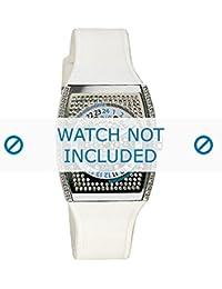 Dolce & Gabbana correa de reloj DW0072 Caucho / plástico Blanco(Sólo reloj correa - RELOJ NO INCLUIDO!)