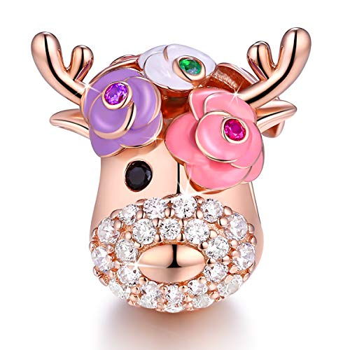 Forever Queen Vita Colorata Ciondolo per Bracciale Charm in Argento  Sterling 925,Ciondolo Arcobaleno Bead 524894b1f01