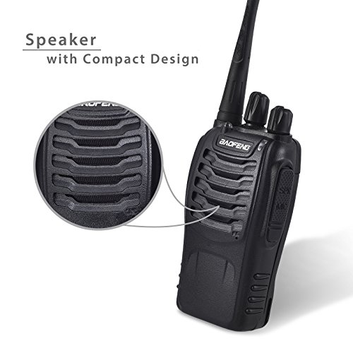Neoteck-Walkie-Talkies-2-PCS-Two-Way-Radio-UHF-400-470MHz-Walky-Talky-With-Original-Earpieces-16CH-Single-Band-FM-Handheld-Transceiver-with-LED-Light-Voice-Prompt-for-Field-Survival-Biking-and-Hiking